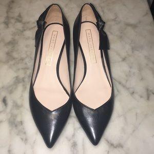 Marc Jacobs Black Leather Heels 39 1/2 EUC